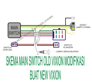 skema main switch old vixion buat new vixion